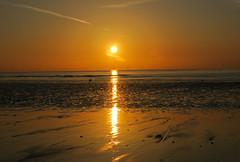 Brilliant Sunrise (ray 96 blade (retired)) Tags: sea reflection beach sunrise glare bestviewedlarge lowtide sunbeam broadstairs beamoflight earlymorningwalk stonebay