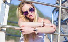 Beauty by the Beach (Jozef Arthur) Tags: california portrait color beach girl face fashion santabarbara canon pose golden hand handmade vibrant candid nails blonde hippie chic portfolio boho goldenhour canon60d