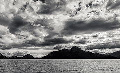 Clouds, Porteau Cove (martincarlisle) Tags: ocean sea blackandwhite canada water monochrome clouds islands britishcolumbia parks howesound highway99 seatoskyhighway porteaucove anvilisland provincialparks niksoftware pentaxians tamronlenses colourefex pentaxart pentaxk5 silverefexii