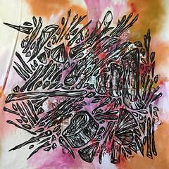"""Problemas Comunes"" Part 2 mixed media on canvas 100 x 100 cms (Acamonchi) Tags: wood art illustration painting artist sandiego mixedmedia working canvas urbanart mexican popart spraypaint tijuana mexicanart acamonchi gerardoyepiz tijuanaart discoverbaja"