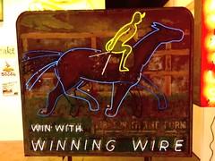 Winning Wire (Omar Omar) Tags: california lighting ca horses usa america lights neon glendale mona muse electricity horseracing museo electricidad cocktails betting carreras lumieres bets californie hipodromo usofa elektro museumofneonart glendaleca glendalecalifornia focos electricit bombillas cocteles notlosangeles muzeo juegosdeazar winningwire artedeneon artesdeneon