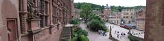 Heidelberg Castle courtyard panorama (quinet) Tags: castle germany heidelberg schloss chteau 2012 heidelbergerschloss heidelbergcastle castleroad burgenstrase