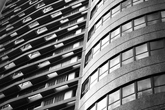 Contour (mara.arantes) Tags: city abstract building texture monochrome architecture flickr pattern structure diagonal curve atrium campinas contour lineas