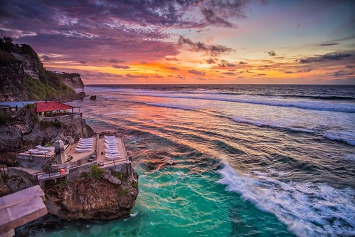 Sunset at Blue Point Beach, Bali