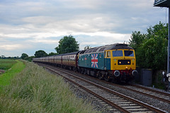 47580 ' County of Essex ' leads 1Z27 1724 York to London Victoria ' The Yorkshireman ' tour past Langham Junction. 25-06-16 37685 tailing (Iain Wright Photography) Tags: county york london tour victoria junction past essex leads the langham 1724 tailing 37685 yorkshireman wcrc 250616 1z27 47580