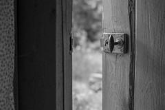 Is it safe now? (Tomas Olsen) Tags: door blackandwhite bw texture monochrome lock minimalism