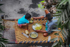 The Road Side Bed_6 (Samiran Paul Photography) Tags: street food bed grandpa granddaughter strret khatia