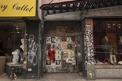 Sticker Graffiti, Lower East Side, NY, 2016 (Jack Toolin) Tags: newyorkcity urban newyork streets graffiti lowereastside storefronts urbanlandscape jacktoolin