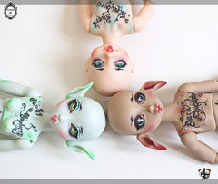 Meet us at Doll Garden Party ! (Chantepierre) Tags: blue twilight doll skin handmade tan sally lena soul bjd elvira balljointed balljointeddoll tanskin dollcraft ladicius chantepierre twilightsoul