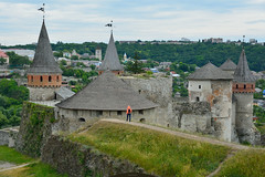 tourist 2 (intui.pro) Tags: old plant building tower history tourism stone museum architecture landscape town ruins outdoor stones citadel stonework text towers reserve ukraine temples walls bastion stronghold fortress palaces fastness strengthening kamianetspodilskyi