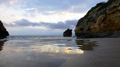 P1050746 (kevindalb) Tags: reflection beach water spain erasmus playa espana catalunya espagne plage spiaggia spagna tamarit 2016