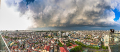 Storm and Photographer (phuong0304p) Tags: city sky cloud storm building skyline cloudy cityscapes hanoi cityskyline hanoiskyline