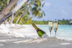 champagne with glasses (shaa-fiL) Tags: travel white beach water glass sand champagne bluesky resort palmtree maldives whitesand watervilla snady whitesandybeach adducity champagnewithglasses