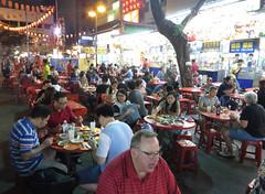tables (PJHarrison) Tags: street travel food singapore southeastasia market malaysia dining satay hawkers skewers
