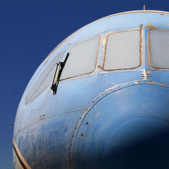 Blue on Blue (studioferullo) Tags: old blue light arizona sky abstract texture window metal museum contrast plane airplane outdoors nose design flying colorful pretty pattern bright tucson outdoor space aircraft air flight sunny bluesky pima round minimalism