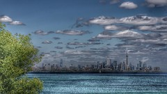 Toronto Skyline (CCphotoworks) Tags: cntower landmarks buildings citygreenspaces cityscape greatlakes dramatic clouds lake sky niceweather westher shoreline lakeontario skyline canada ontario toronto ccphotoworks