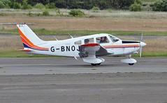 G-BNOJ (goweravig) Tags: uk swansea wales aircraft warrior cherokee piper visiting swanseaairport gbnoj