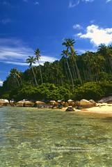 Pulau Tioman, Ayer Batang (blauepics) Tags: blue trees sea sky beach water clouds strand landscape island coast sand meer wasser himmel wolken palm insel malaysia landschaft tioman bume pulau malay blauer kste palmen
