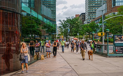 Upper West Side (Jeffrey Friedkin) Tags: street city nyc dog newyork reflection architecture buildings subway wind s streetscene lincolncenter cityscene newyorkphoto newyorkscene