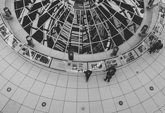 From above (mripp) Tags: germany deutschland politics politiian black white mono monochrom down group people architecture city urban stadt berlin sony rx1r2