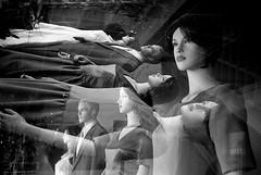 mannequin (Paul Lundberg) Tags: white film blackwhite doubleexposure argusc3 ilfordhp5400 kodakhc110 plustekopticfilm7300