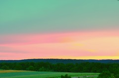 Sunrise long light (eagle1effi) Tags: green landscape nikon estate farmers dslr landschaft waldhausen d5100