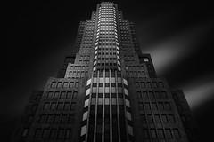 Hellraiser (blondmao) Tags: usa building chicago facade windows gebude skyscraper dark bnw skidmoreowingsandmerril nbctower bw symmetry blackandwhite illinois architecture