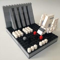 microscale imperial shuttle / added some death star =P (ohmgeez) Tags: starwars lego darthvader deathstar rotj microscale
