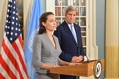 Secretary Kerry and UNHCR Special Envoy Jolie Pitt Address the Press on World Refugee Day in Washington (U.S. Department of State) Tags: refugees angelinajolie johnkerry