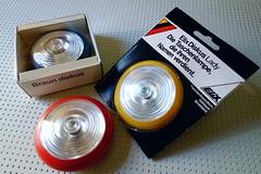 Braun Diskus flashlight (revelinyourtime) Tags: red black yellow vintage design battery collection flashlight braun collector industrialdesign lessismore formfollowsfunction germandesign hansgugelot vintagebraun thanksdieter