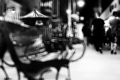 nightlife (eggii) Tags: street bw blur mono technic lodz piotrkowskastreet blurtechnic filtersblur
