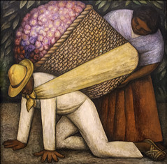 Flower Carrier (Cargador de Flores) by Diego Rivera (Greatest Paka Photography) Tags: flowers color art painting mexico artist basket mexican painter diegorivera worker peasant symbolism masonite capitalistic theflowercarrier cargadordeflores