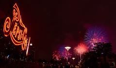 Macy's 4th of July 2016 fireworks display (bacon.dumpling) Tags: longislandcity nikond750 pepsicolasign gantryplazastatepark macys4thofjulyfireworks queens sigma24mmf14dghsmart ny usa us