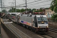 Showing their Age (Nick Gagliardi) Tags: train trains railroad electric northeast corridor amtrak acs64 nj transit njt new jersey arrow iii mu emu alp46 alp45dp