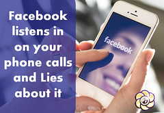 Facebook officially lied about not listening to your phone calls (HopeGirl587) Tags: phone listening calls facebook lied officially