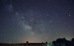 Milky Way (Xenia Blanco.) Tags: summer sky espaa night canon way skyscape noche countryside spain long exposure colours cielo verano astronomy milky astronomia va larga exposicin lctea canonphotography canon600d canoneos600d