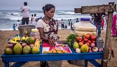 Her bread & butter (Ravi Singh vats) Tags: seller vizag earning visakhapatnam rkbeach varunbeach