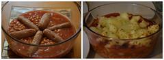 Sausage Surprise (Jainbow) Tags: sausages bakedbeans potatoes casserole food dinner lunch hot meal jainbow