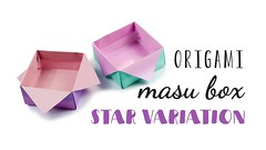 Origami Masu Box - Star Variation Tutorial ♥︎ (paperkawaii) Tags: origami instructions paperkawaii papercraft diy how video youtube tutorial