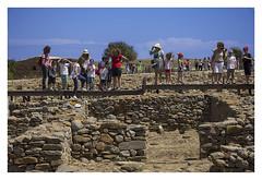 Loosing your hat at  (AurelioZen) Tags: europe greece aegean limnos poliiochni excavation children mothers hat wind canonefs1785mmf456isusm
