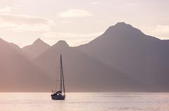 Eigg Boat (M.Holland) Tags: ocean sunset sea mountains island scotland boat yacht 5d hebrides eigg isleofrum cleadale isleofegg cleadalebeach