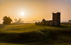 Dawn Light (Anthony White) Tags: trip mist green fog sunrise unitedkingdom sony ruin dorset knowlton 2016 sonyalpha