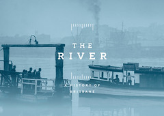 The River Branding (Studio Pounce) Tags: graphicdesign fitzroy melbourne brisbane invitation theriver museumofbrisbane chrisstarr studiopounce