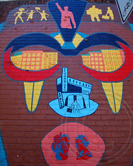 UNTOLD STORIES Mural (2010), Harlem River Park, New York City (jag9889) Tags: park city nyc streetart ny newyork art history work river caw graffiti community mural artist mask harlem manhattan creative culture workshop 2010 nycparks 2013 untoldstories harlemriverpark jag9889