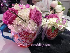 (Joyce Wedding Services) Tags: china roses white green purple tea fresh pot cups elegant filters hydrangeas classy centerpieces uploaded:by=flickrmobile flickriosapp:filter=nofilter
