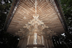 Three-storied Pagoda / () (TANAKA Juuyoh ()) Tags: architecture religious temple japanese design pagoda high exterior traditional style hires resolution 5d hi  res  tochigi markii       saimyouji   senjafuda   threestoried            mashikomachi  senshafuda   hagagun