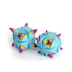 Alien (_Ekaterina) Tags: blue paper origami modular paperfolding modularorigami kusudama unitorigami lukasheva ekaterinalukasheva