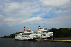 Segwin and Wenonah II (steelers_#1fan) Tags: ontario canada colour reflection art water clouds boats north cottage lakes upnorth muskoka amateurs gravenhurst steamships 1020mmsigma