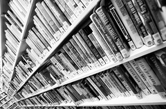 Is It Just a Waste of Time (Thomas Hawk) Tags: california bw usa america oakland unitedstates library unitedstatesofamerica places books eastbay oaklandpubliclibrary fav10 oaklandmainlibrary