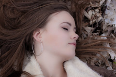 Once... (Kurt Evensen) Tags: sleeping people woman girl leaves fashion hair faces profile ground fallen fashionforall curtski22 kurtevensen kurtevensenphotography